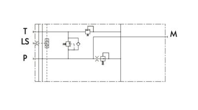 Midden inlaatsectie variabele pomp 230 l/min - 1