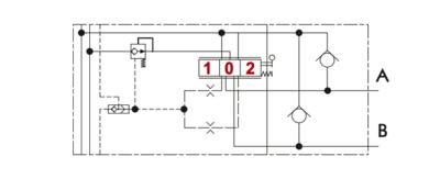 Proportioneel 4/3 stuursectie drukgecompenseerd incl. nazuigventiel/shock valve kleppen