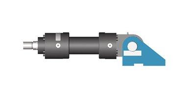Cilinder beugel/steun 90 graden 25mm