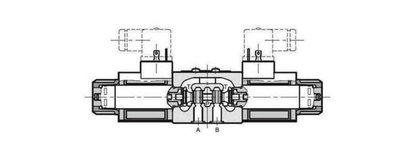 NG6 110 VAC Cetop Elektrisch 4/3 stuurventiel H-middenstand 350 bar