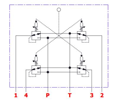 Joystick 2 sectie voor proportioneel stuurventiel - XY as