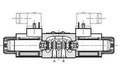 NG6 230 VAC Cetop Elektrisch 4/3 stuurventiel, ABT Verbonden P Gesloten 350 bar