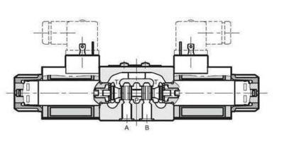 NG6 48 VAC Cetop Elektrisch 4/3 stuurventiel, PT Verbonden AB Gesloten 350 bar