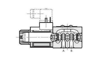 NG6 12 VDC Cetop Elektrisch 4/2 stuurventiel PA verbonden BT verbonden 350 bar