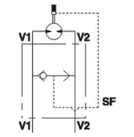 Brake release klep VSBF 1/2