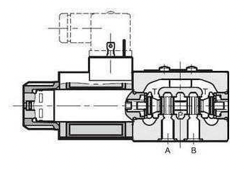 NG6 12 VDC Cetop Elektrisch 4/2 stuurventiel H middenstand 350 bar