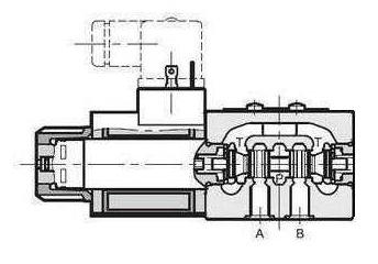 NG6 48 VDC Cetop Elektrisch 4/2 stuurventiel H middenstand 350 bar