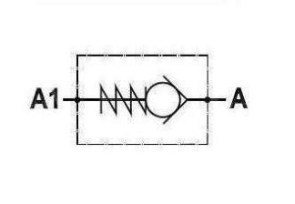 Terugslagklep 1''1/2 BSP met openingsdruk 5 bar