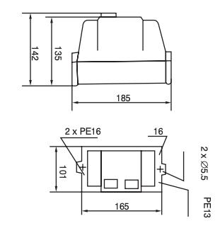 Motor beveiligingsschakelaar 23-32 A