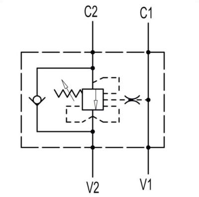 "Enkelwerkende balanceerklep VBCD 3/8"" SE-A CC"