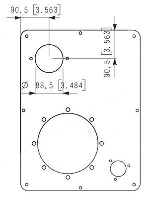 Tankdeksel voor 40 liter tank motorflens met uitsparing 200mm lantaarnstuk & vuldop & retourfilter