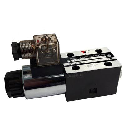 NG6 24V Cetop Elektrisch 4/2 stuurventiel - H-middenstand - pers in A
