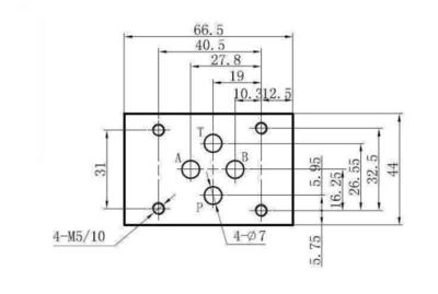 NG6 220VAC Cetop Elektrisch 4/2 stuurventiel - H-middenstand - pers in A