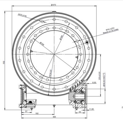 Hydraulische draaikrans 1:85 buitendiameter 470mm