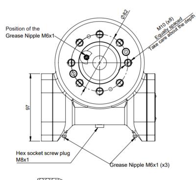 Hydraulische draaikrans 1:54 buitendiameter 129mm