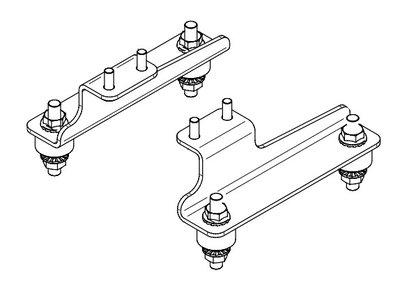 Beugels en trillingsdempers voor hydraulische oliekoelers HY010 t/m HY057