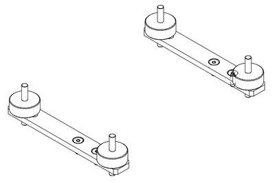 Beugels en trillingsdempers voor hydraulische oliekoelers HY090 t/m HY210