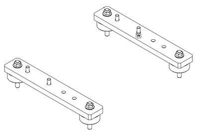 Beugels en trillingsdempers voor hydraulische oliekoelers HY215 t/m HY230