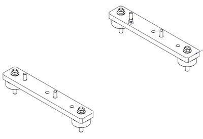 Verticale beugels en trillingsdempers voor hydraulische oliekoelers HY232 t/m HY235