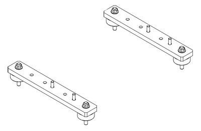 Horizontale beugels en trillingsdempers voor hydraulische oliekoelers HY232 t/m HY235