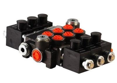 3Z50 3 sectie stuurventiel 50 L/min 12V elektrisch