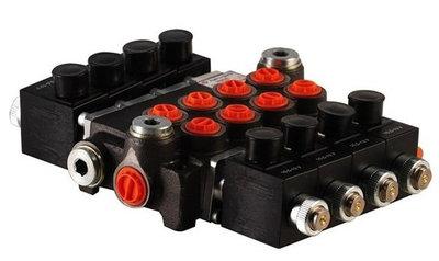4Z50 4 sectie stuurventiel 50 L/min 24V elektrisch