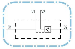 Dubbele hydraulische gestuurde terugslagklep VBPSE 3/4