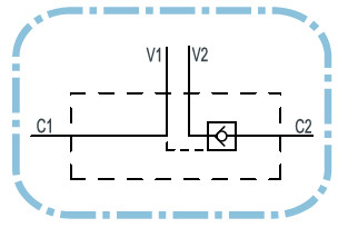 Dubbele hydraulische gestuurde terugslagklep VBPSE 3/8