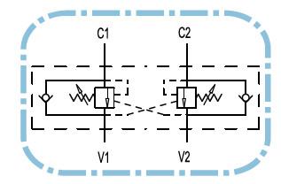 Dubbelwerkende balanceerklep VBCD 3/8