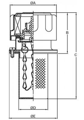 Tankvuldop TA80, 50 mm
