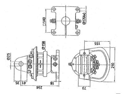 Rotator 3,5 ton met RH flens