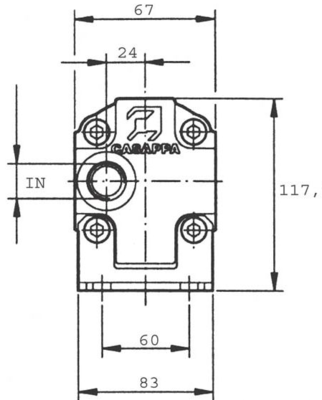 Verdeelmotor PLD20216 16,6cc