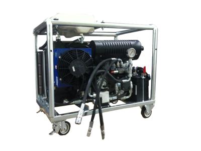 Hydrauliek aggregaat powerpack met 22pk V-twin benzinemotor