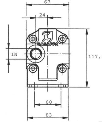 Verdeelmotor PLD20CSGE/ 2X2011 11,1cc