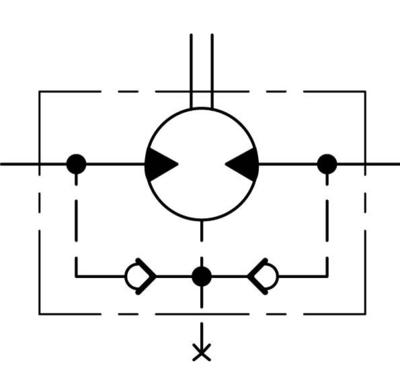 Danfoss orbitmotor type OML 8cc Ø16