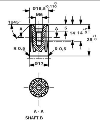 Danfoss orbitmotor type OMM 31,6cc Ø16 met sensor