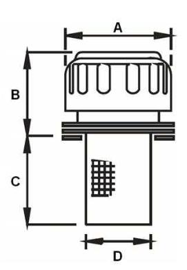 Vuldop met ontluchting mini 40µ Ø50,1mm