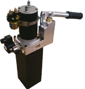 Rolstoellift powerpack 12V met nood handpomp