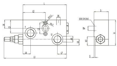 Hoge druk lage druk schakelventiel VEP FLP 1/2