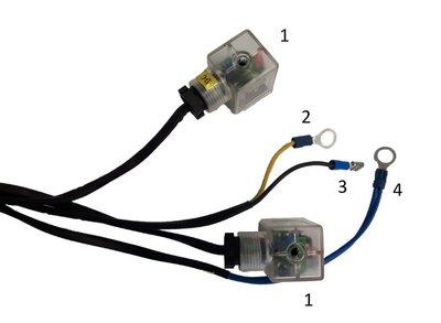 Knoppenkast voor dubbelwerkende powerpack 12V 2 knoppen incl. noodstop