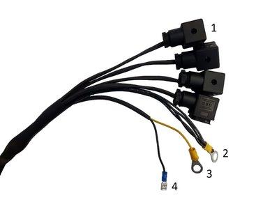 Knoppenkast voor dubbelwerkende powerpack 12V 4 knoppen incl. noodstop