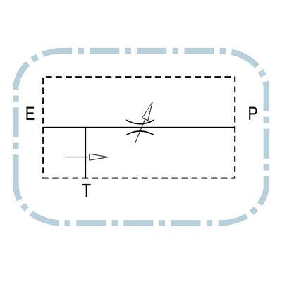 Volumeregelklep drukgecompenseerd 3-weg RFP3 3/8