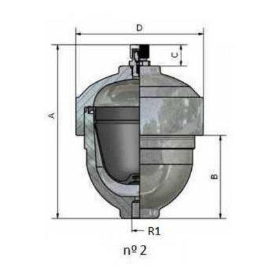 Balgaccumulator 12L M18x1,5 aansluiting 1,5l