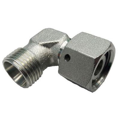 Kniekoppeling instelbaar 90º Ø12L (M18x1,5) met o-ring