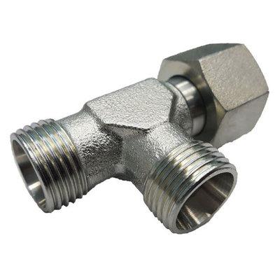 Instelbare T-adapter met o-ring 6L (M12x1,5) (L-uitvoering)