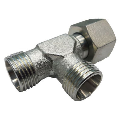 Instelbare T-adapter met o-ring 15L (M22x1,5) (L-uitvoering)