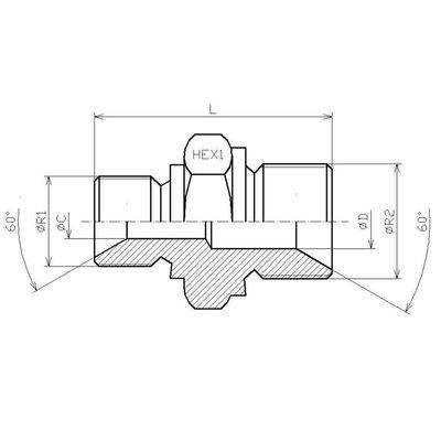 Verloopadapter 3/8