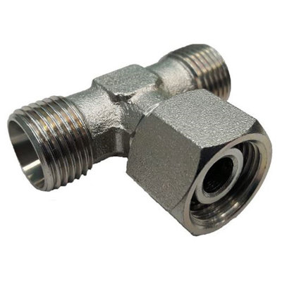 Instelbare T-adapter met o-ring 28L (M36x2) (T-uitvoering)