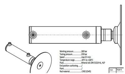 2 traps Telescoopcilinder met scharnierende RVS voet