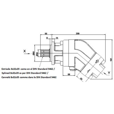 113cc plunjermotor 35 mm spline as